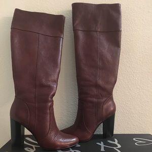 Banana republic dark rum burgundy tall boots 8/12